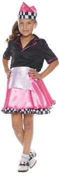 Girl's 50s Car Hop Costume - Child L (10 - 12)