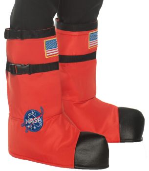 Kid's Astronaut Boot Tops - Orange