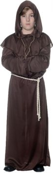 Boy's Brown Monk Robe - Child L (10 - 12)