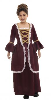 Girl's Colonial Costume - Child L (10 - 12)