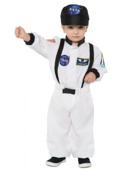 Astronaut Suit - White - Toddler Large (2 - 4T)