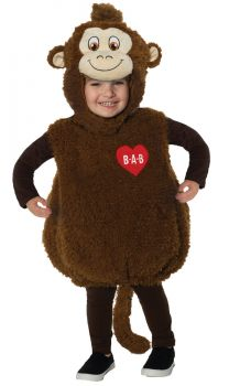 Build-A-Bear Smiley Monkey Belly Baby - Toddler Large (2 - 4T)