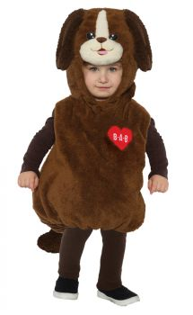 Build-A-Bear Playful Pup Belly Baby - Toddler Large (2 - 4T)