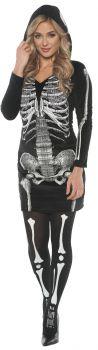 Women's Skeletal Hoodie Dress - Adult Large