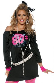 Women's Awesome 80's Tunic Costume - Adult Large
