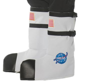 Adult Astronaut Boot Tops - White