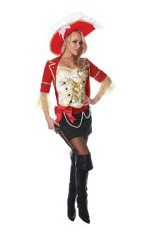 Lace Pirate Costume - Adult Large