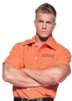 Orange Prisoner Shirt - Adult OSFM