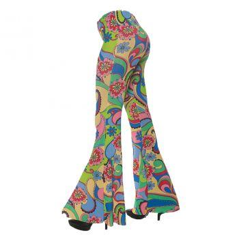 Women's 70's Flower Bell Bottom Pants