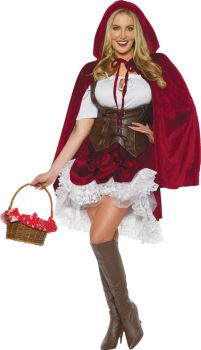 Women's Deluxe Red Riding Hood Costume - Adult Large
