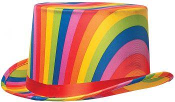 Rainbow Top Hat - Adult