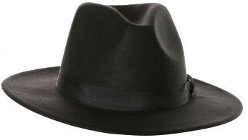 Black Fedora Hat - Adult