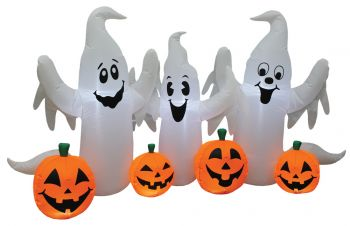 Ghosts With Pumpkins 8' Wide Inflatable