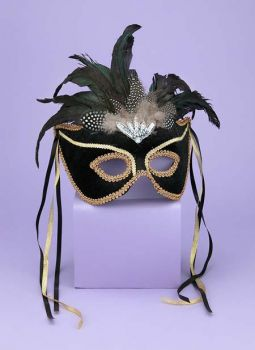 Venetian Couple Mask Bk/gd