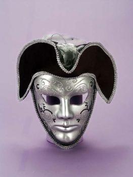 Venetian Mask Silver & Black