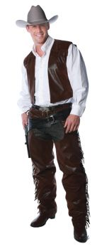 Vest And Chaps Set Adult