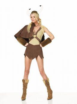 Women's Sexy Viking Dress Set - Adult Small