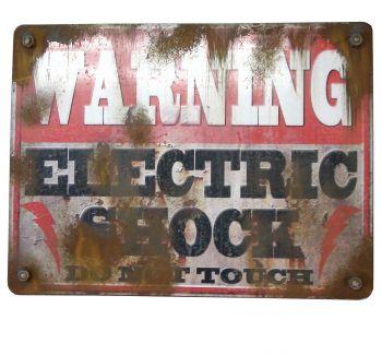 Warning Electric Shock Sign
