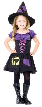 Girl's Black Cat Witch Costume - Child Large