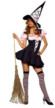 Women's Pink & Black Witch Costume - Adult X-Small