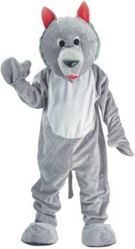 Wolf Mascot Grey Adult One Sz.
