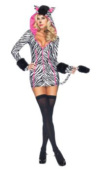 Women's Zebra Savannah Costume - Adult Large