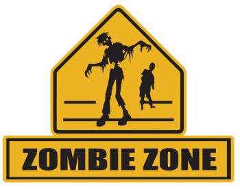 Zombie Lawn Signs Zombie Zone