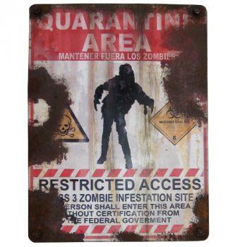 Zombie Quarantine Area Sign