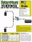 "Air Bag Kit:  6"" Lift -  2 Bags  - UP:DOWN Motion"