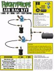"""Air Bag Kit:  6"""" Lift -  2 Bags  - UP:DOWN:LEFT:RIGHT Motion"""