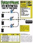 """Air Bag Kit:  6"""" Lift -  3 Bags  - Three Way Motion"""