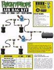 """Air Bag Kit:  6"""" Lift -  4 Bags  - UP:DOWN:LEFT:RIGHT Motion"""
