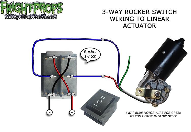 3-Way Rocker Switch Wiring to Motors and Linear Actuators…